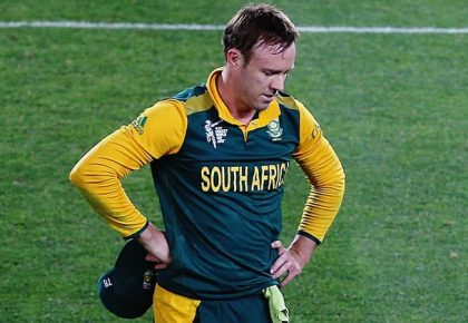 South Africa's AB de Villiers has been ruled out