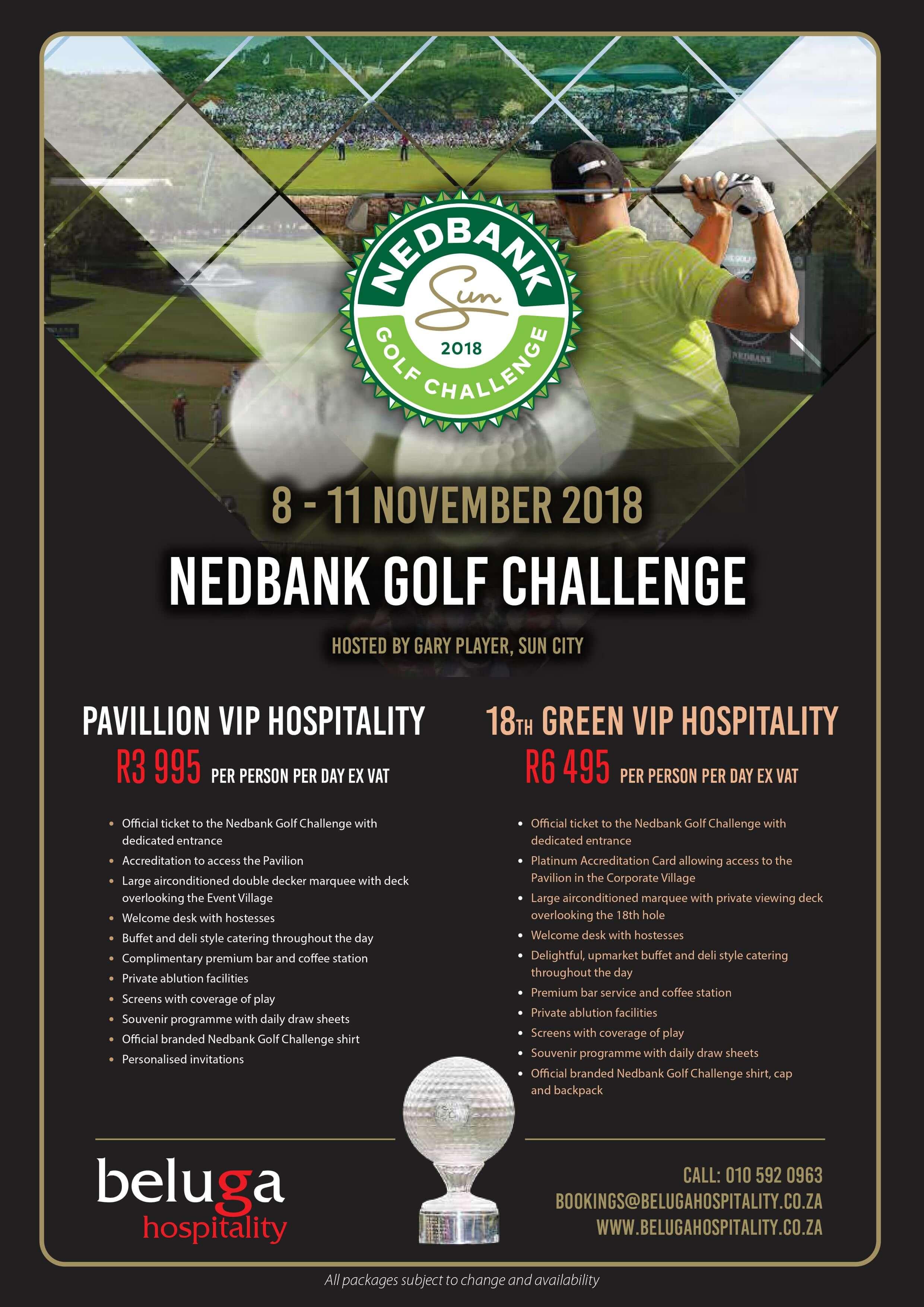 Nedbank Golf Challenge 2018 - Beluga Hospitality -Flyer Brochure
