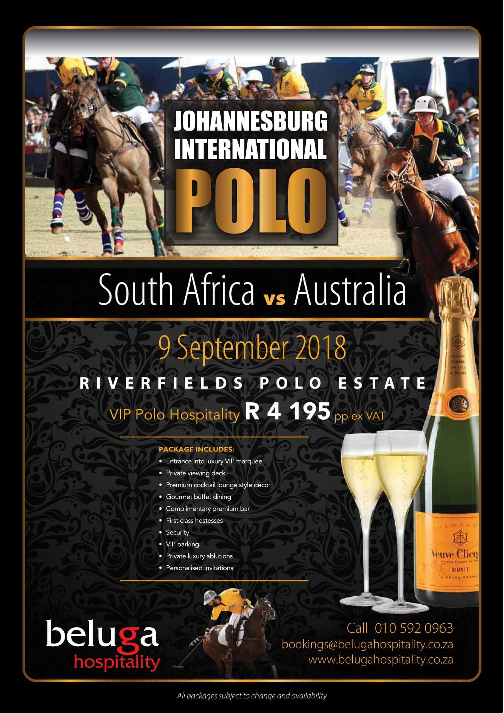 Johannesburg International Polo - VIP Hospitality - Beluga Hospitality Flyer