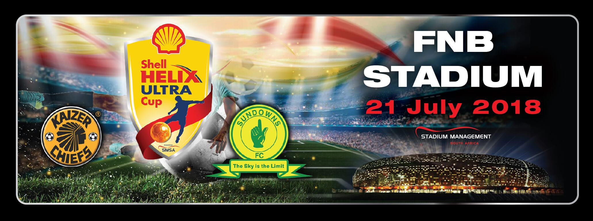 Kaizer Chiefs vs Mamelodi Sundows - Shell Helix Ultra Cup - Beluga Hospitality Banner