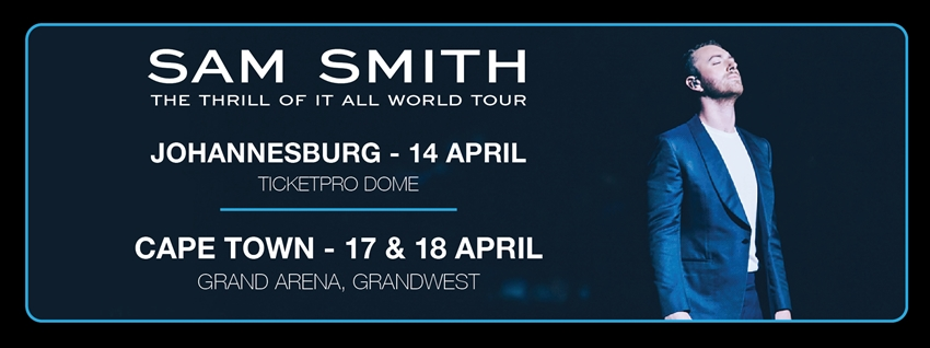 Sam Smith The Thrill Of It All World Tour 2019 - Beluga Hospitality - banner