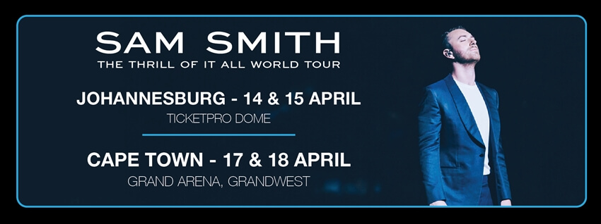 Sam Smith - The Thrill of it All World Tour - Beluga Hospitality-banner