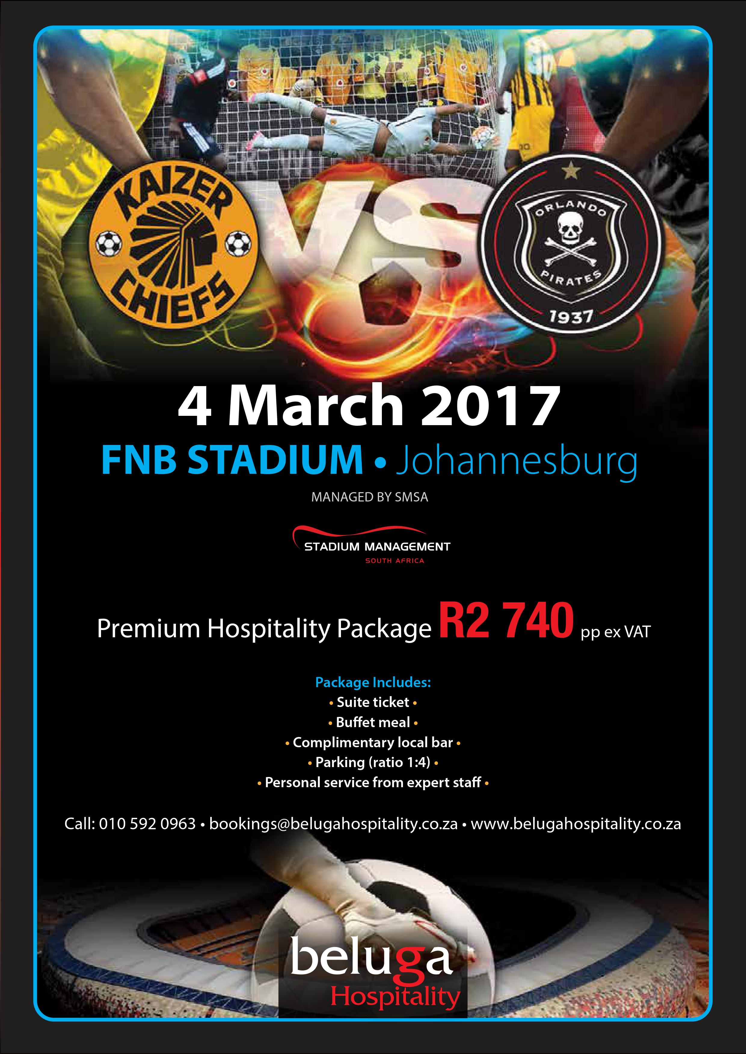 soweto derby - orlando pirates vs kaizer chiefs