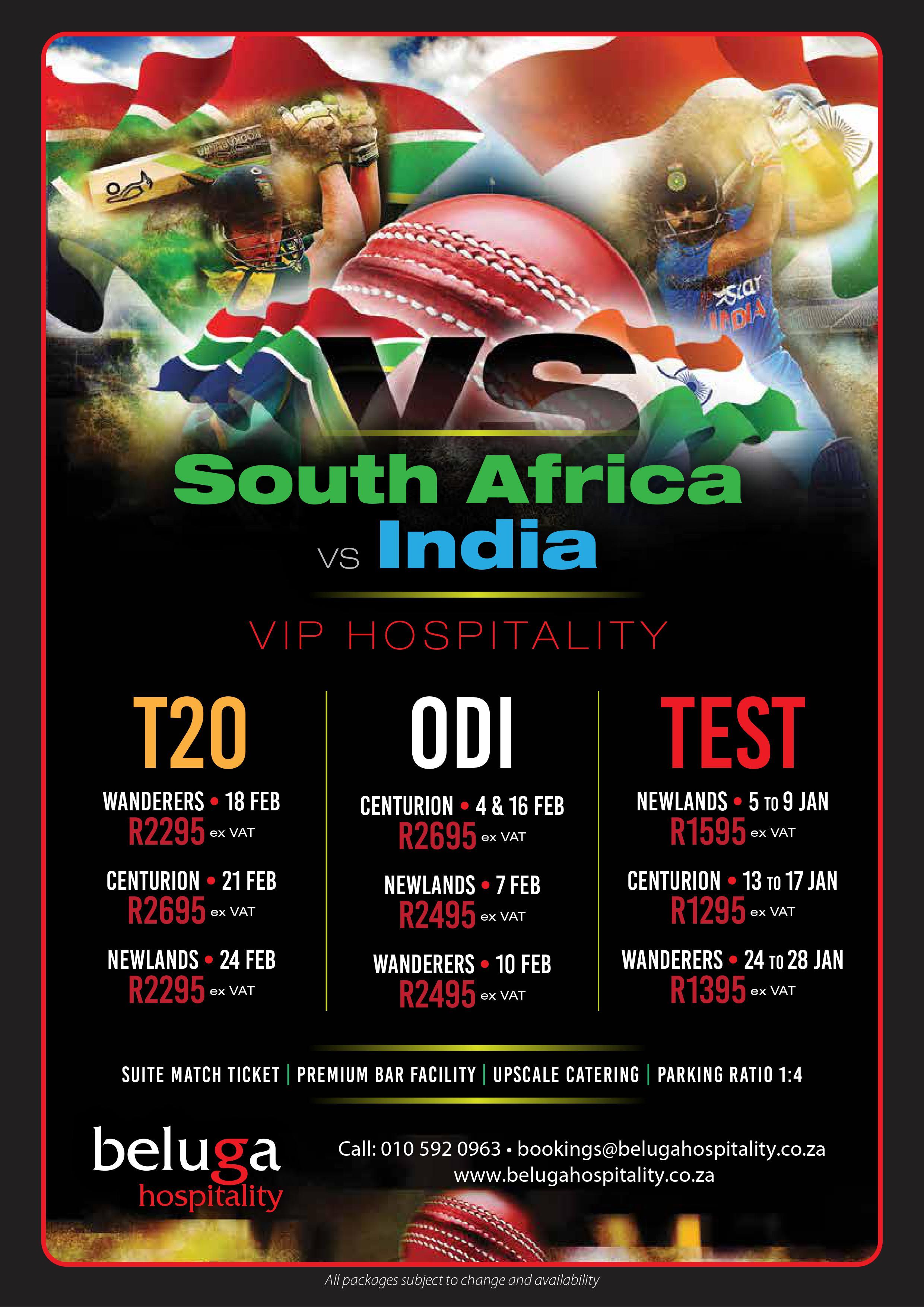 South Africa vs India Cricket – Test Series 2018 - Beluga
