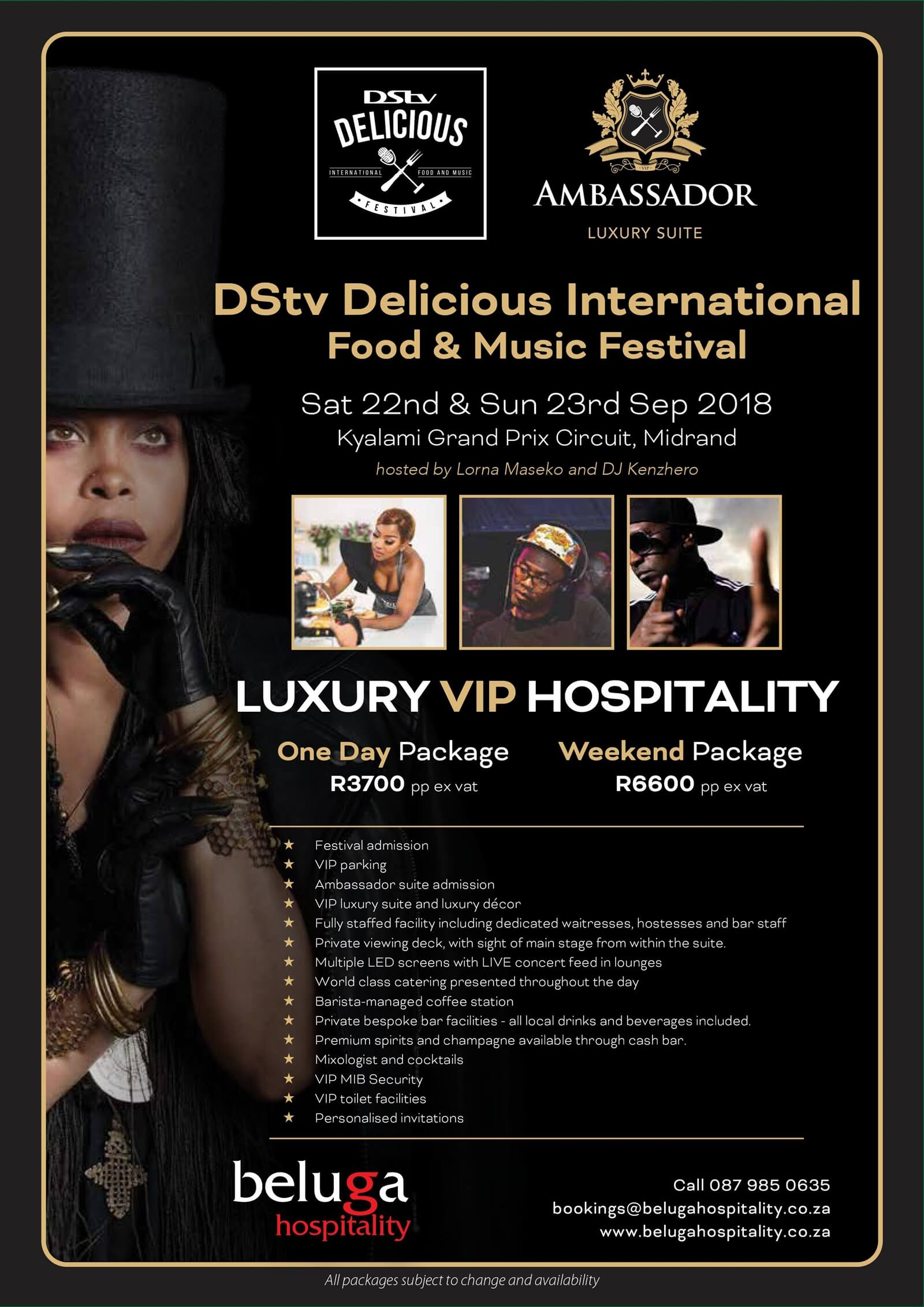 DStv Delicious International Food and Music Festival 2018 - Beluga Hospitality-flyer