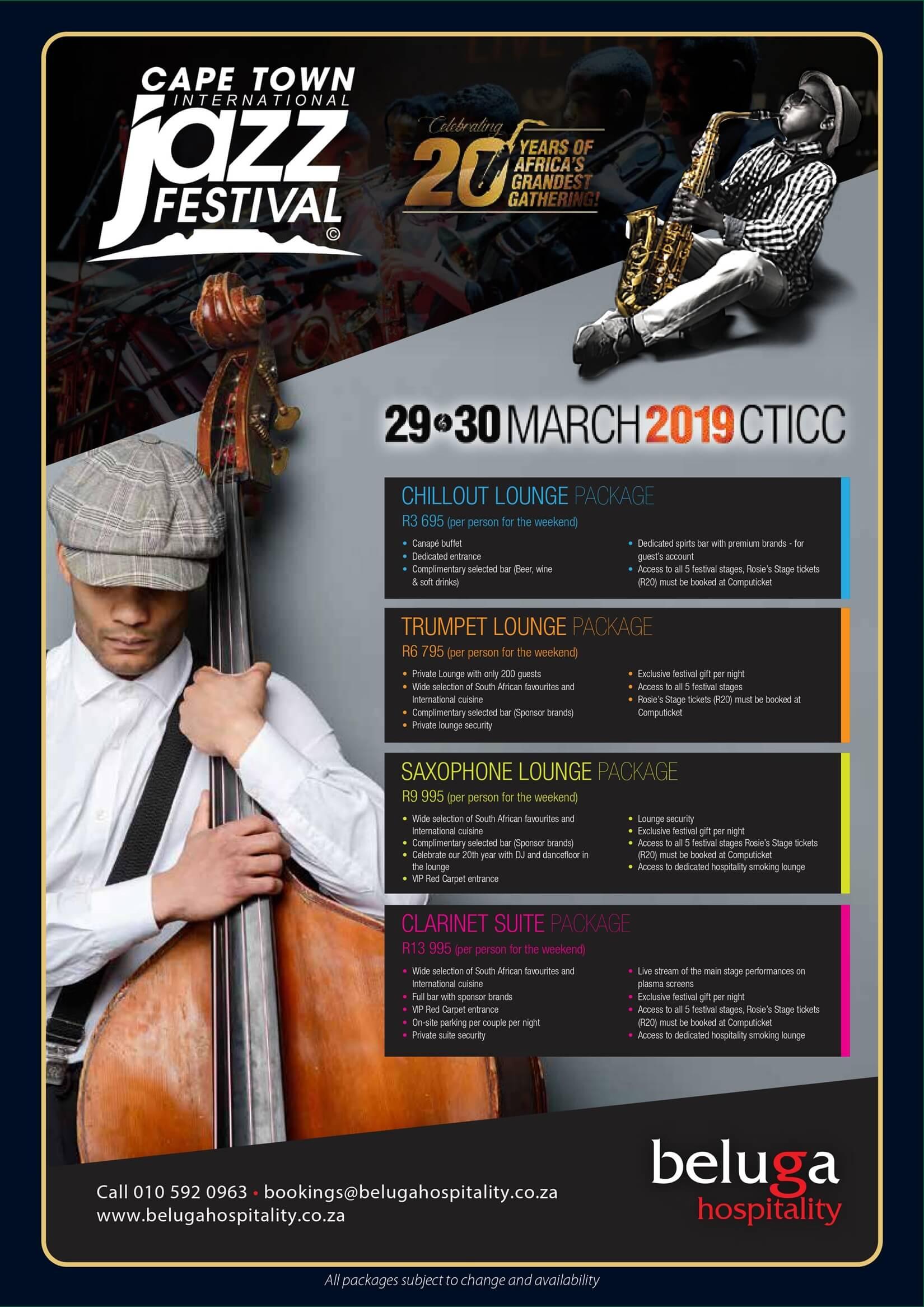 20th Cape Town International Jazz Festival - Beluga Hospitality