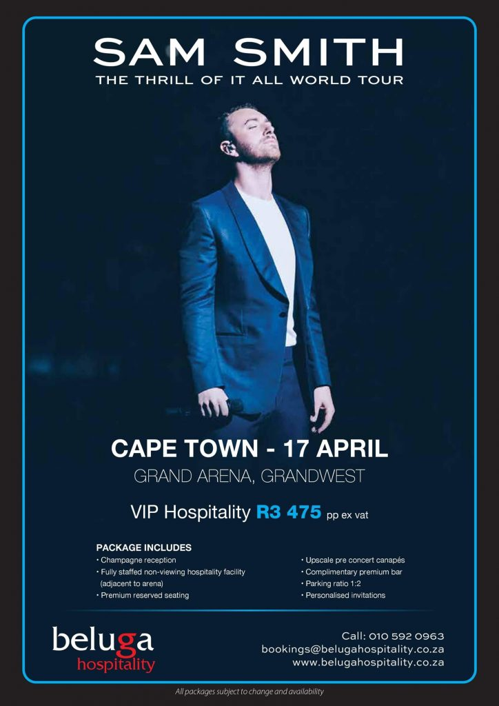 Sam Smith - The Thrill of it All Tour - Beluga Hospitality-flyer