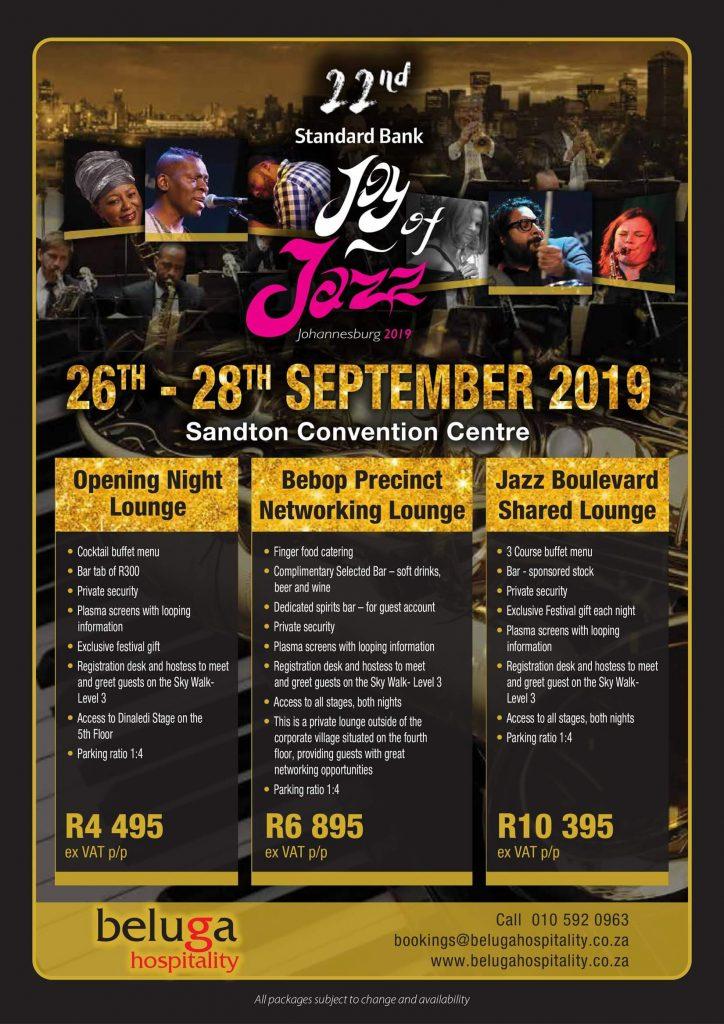 Standard Bank Joy of Jazz 2019 - Beluga Hospitality-flyer