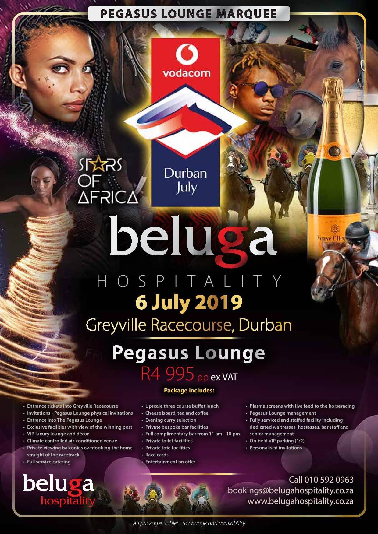 Vodacom Durban July 2019 - Pegasus Lounge - Beluga Hospitality
